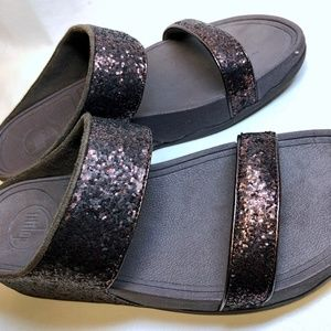 NWT FitFlop Dark Bronze Slide Sandals